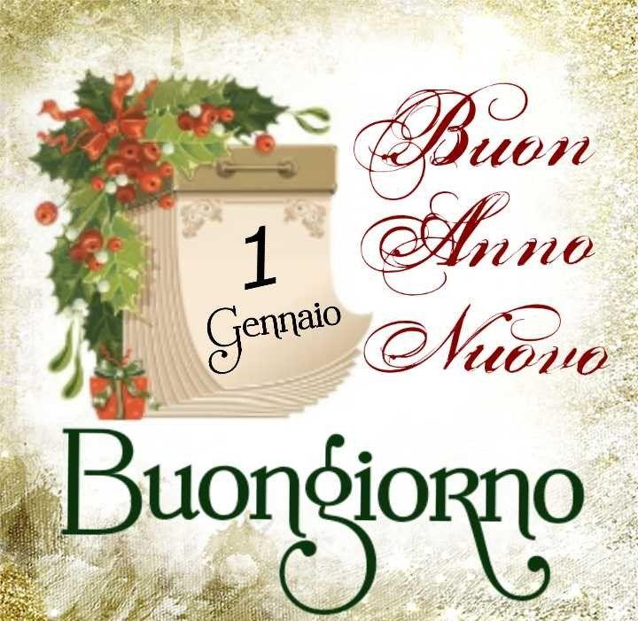 1 Gennaio Buon Anno Nuovo Buongiorno Auguri Anno Nuovo Anno
