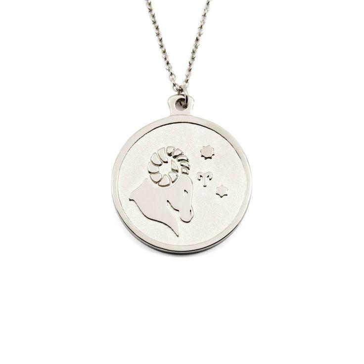 Silver Aries Necklace (Short 45cm)