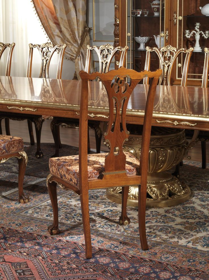 Classic Dining Room In The Style Of Louis XVI Composed Of Belief, Showcase  And Walnut