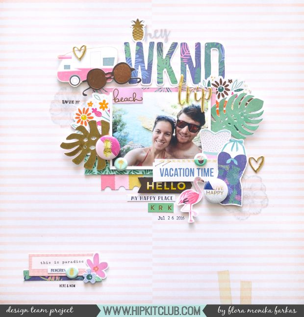 Hey WKND layout - love the cluster around the photo