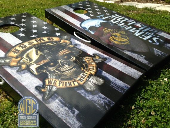 Marine Corps Custom Cornhole Sets by WGCornhole on Etsy, $215.00