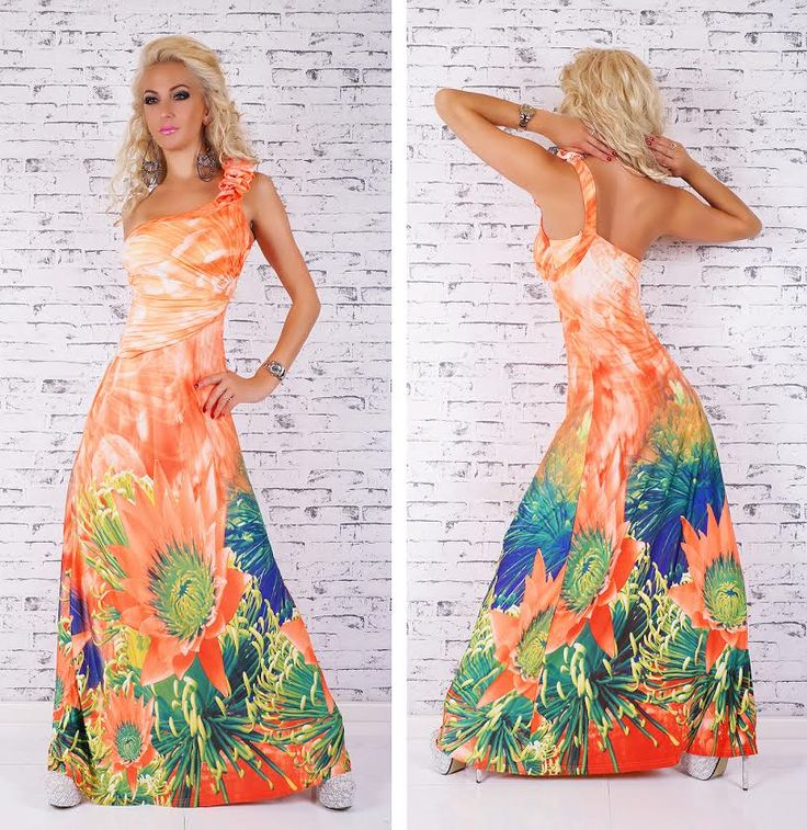 Sunflower Maxi Dress in orange2