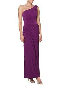 Alara one shoulder knot detail dress