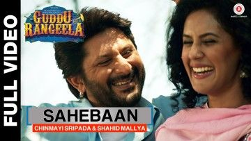 Sung by South Indian playback singer Chinmayi Sripada and Punjabi singer Shahid Mallya, Sahebaan is an out-an-out romantic song from the film Guddu Rangeela.