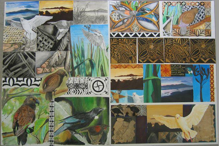 My NCEA 1 Art Folio Board by Mackico