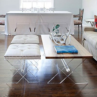 Love The Lucite And Simple Design