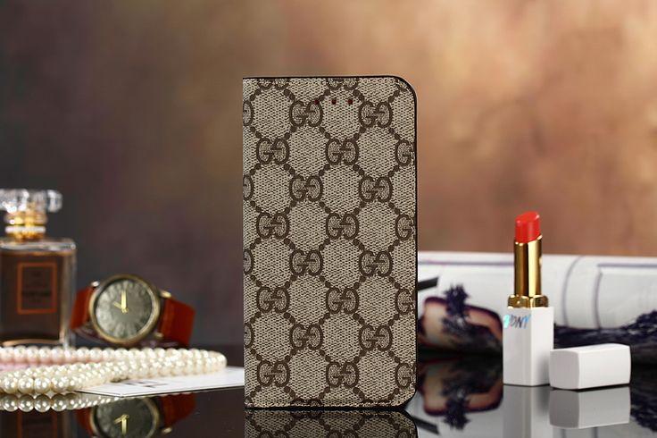 ブランド グッチ風 iphone6S ケース シンプル チェック柄 iphone6S 手帳型ケース レザー