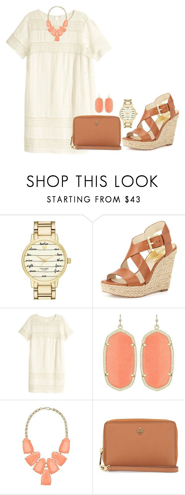 """""""1•20•2016"""" by ashleypinkerton ❤ liked on Polyvore featuring Kate Spade, MICHAEL Michael Kors, H&M, Kendra Scott, Tory Burch, women's clothing, women's fashion, women, female and woman"""