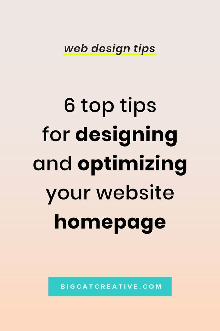 top tips for designing optimizing your website homepage