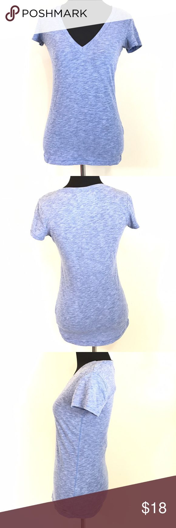 GARAGE GRG BLUE V NECK BASIC T SHIRT SIZE SMALL Good condition garage brand clothing basic blue v neck t shirt size small Garage Tops Tees - Short Sleeve