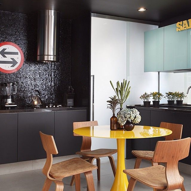 Projeto Studio Roca #assimeugosto #mesa #cozinha #amarelo #decor