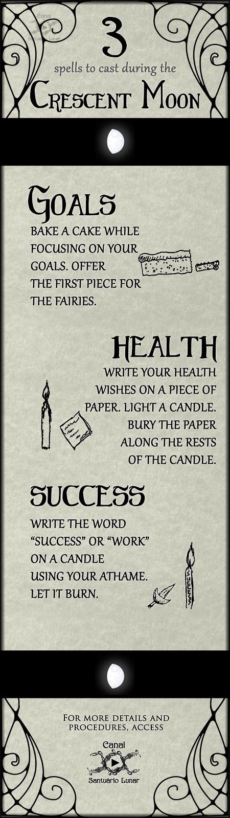 3 spells to cast during the Crescent Moon | Wicca, Witchcraft, Magic, Witch, Pagan