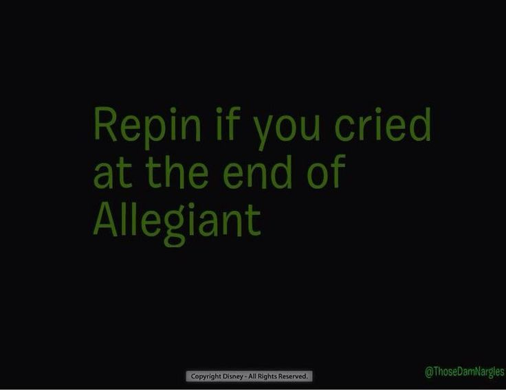 OMG I could not stop crying!!! *cough*cough* Veronica Roth *cough*