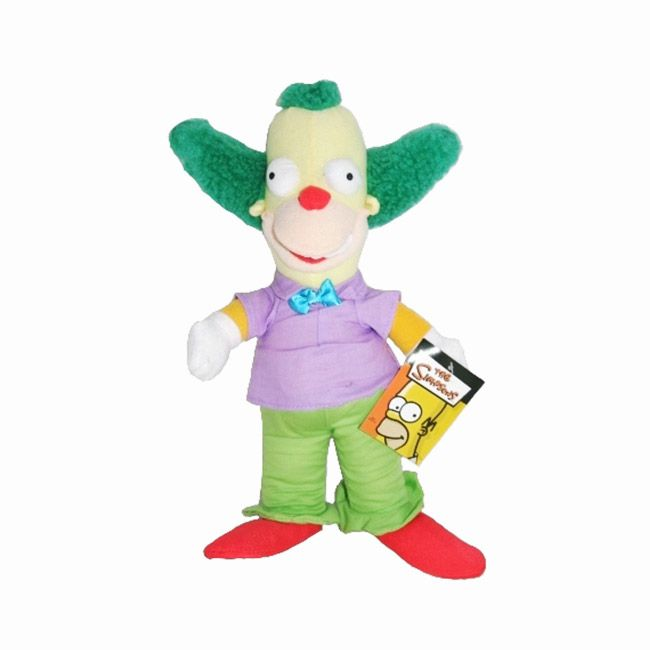 Peluche Krusty le Clown des Simpsons. Peluche originale de la série animée.   http://www.lamaisontendance.fr/catalogue/peluche-simpsons-krusty-clown/  #peluche #simpsons #simpson #clown #krusty