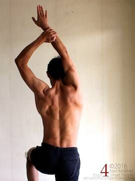 This sequence of active Shoulder Stretches can be done while standing. Muscle power provides the stretch so that the shoulders are exercised and stretched