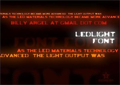 LedLight Font. http://www.recursoswebyseo.com/2012/04/fuentes-futuristas-gratis.html