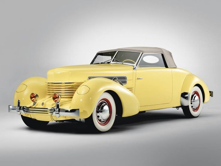 The Cord 810 (and related Cord 812) was an automobile produced by the Cord Automobile division of the Auburn Automobile Company in 1936 and 1937. It was the first American-designed and built front wheel drive car with independent front suspension. It followed the 1934 Citroën Traction Avant and the Cord L-29, both of which also had front wheel drive. The 810/812 was also the first to offer hidden headlights. https://en.wikipedia.org/wiki/Cord_810/812