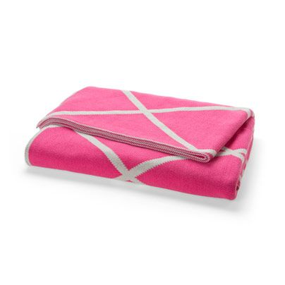 Diamond Throw in Hot Pink