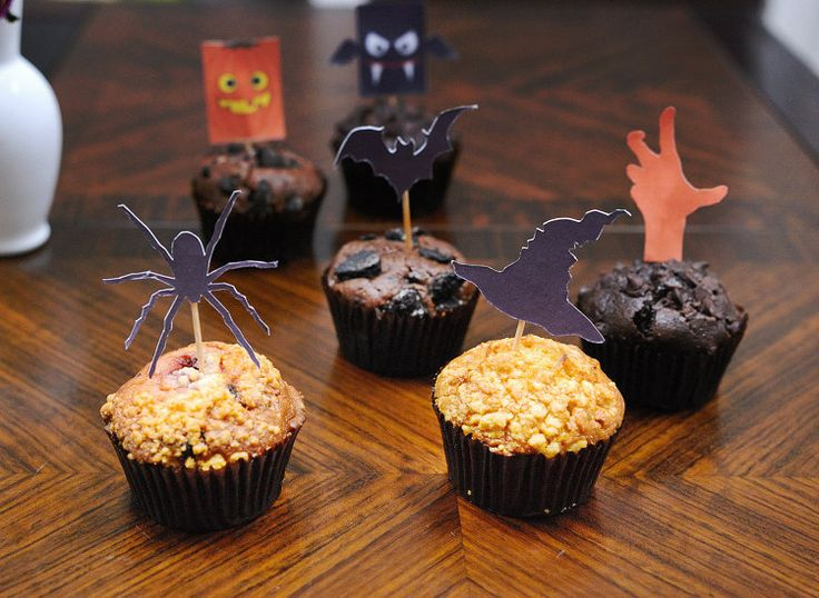 Creepy Halloween Cupcake Toppers SET Halloween by Janeysfaves