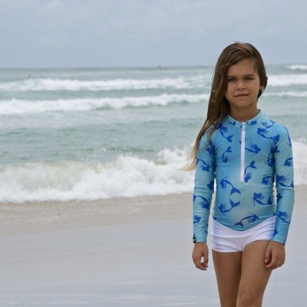 Oceana Blue Mermaid Cove Swimsuit | Cool Kids Clothes | Tiny Style | Australia