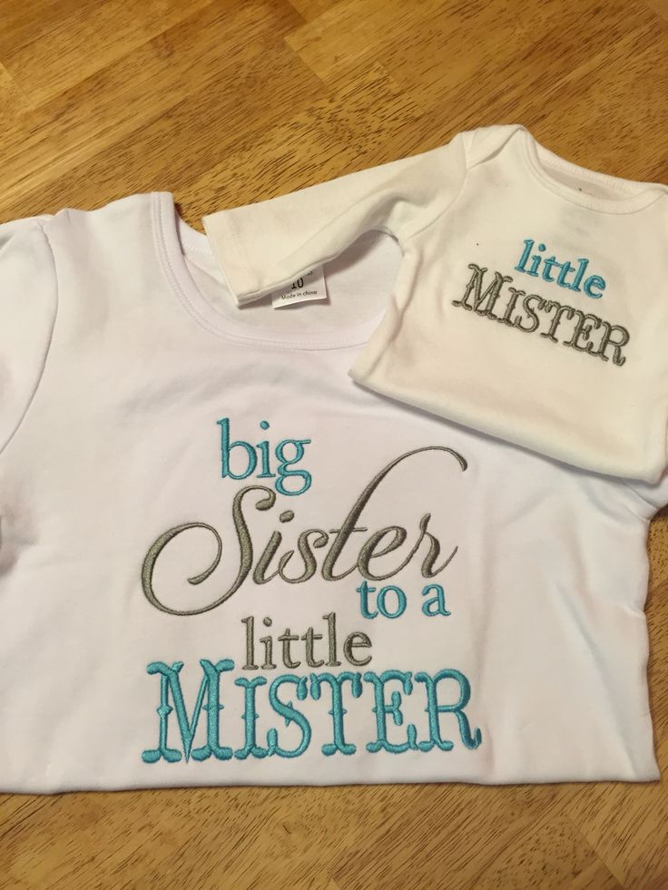 Delightful Gift Ideas For Big Sister At Baby Shower Part - 12: Big Sister/little Mister