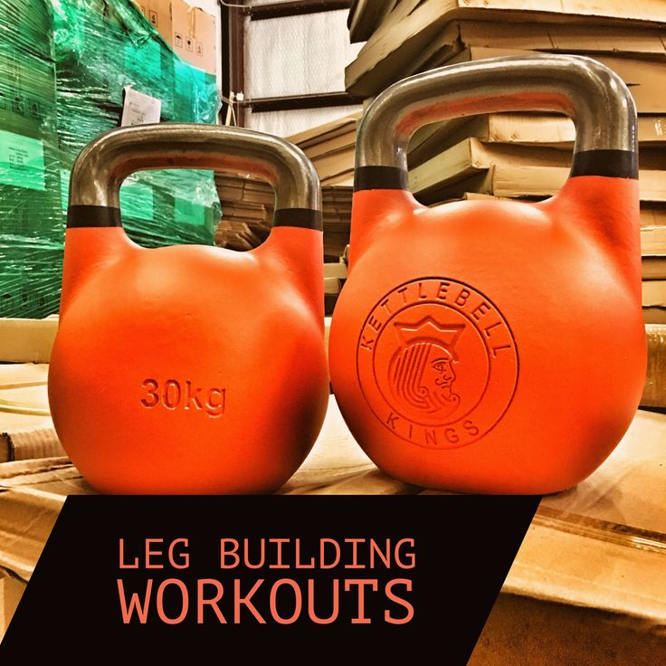 Leg building workouts with kettlebells designed to increase muscle mass and prep for physique competitions.