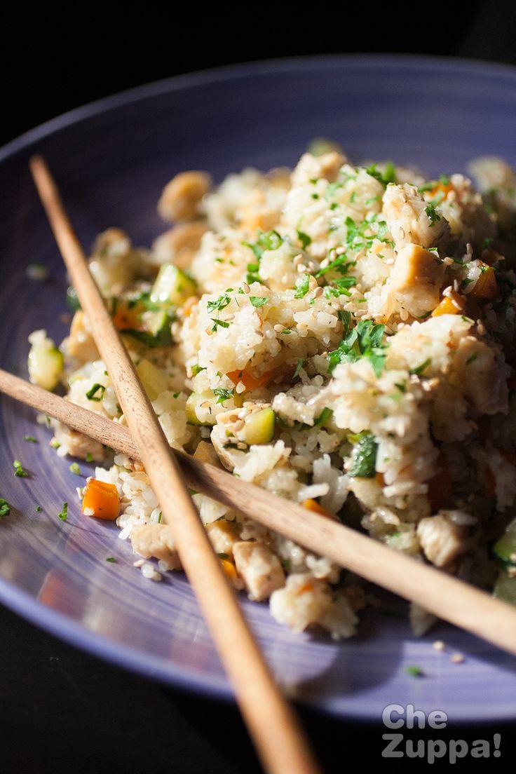 Riso basmati al wok con pollo e verdure - chezuppa