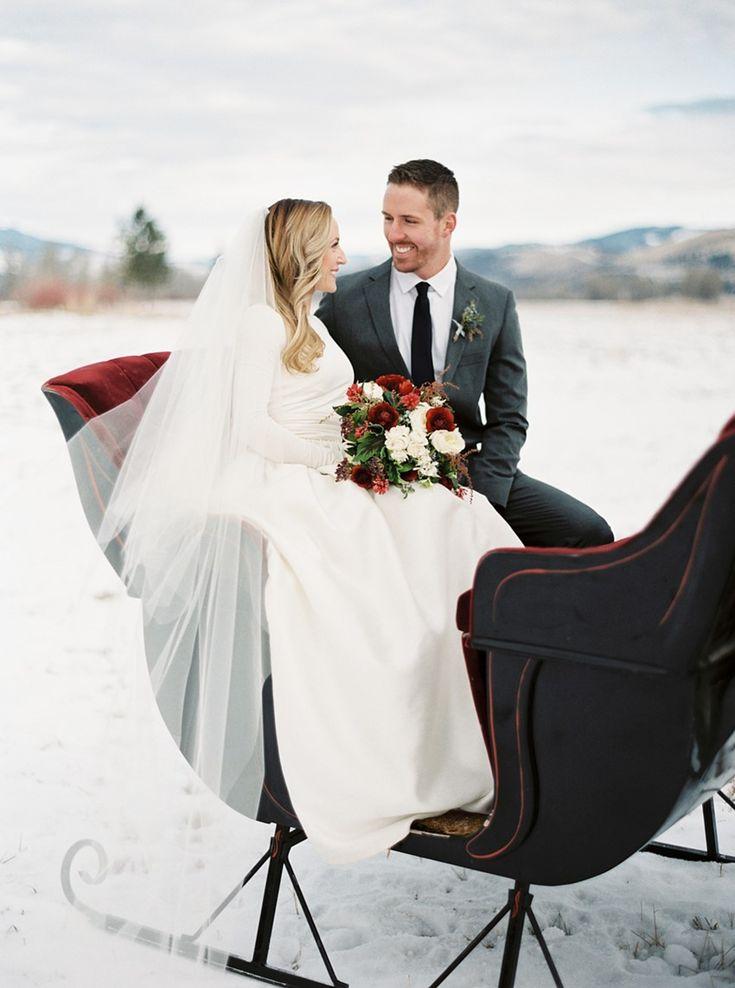 258 best winter weddings images on pinterest winter weddings winter love story snowy holiday wedding inspiration junglespirit Gallery