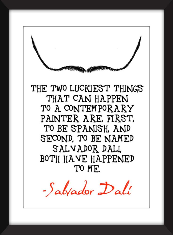 "Salvador Dali ""Luck"" Quote A5/A4/A3/11 x 14/8 x 10/5 x 7""  Print , Typography Art, Gift for Art Lovers by TheWordAssociation on Etsy"