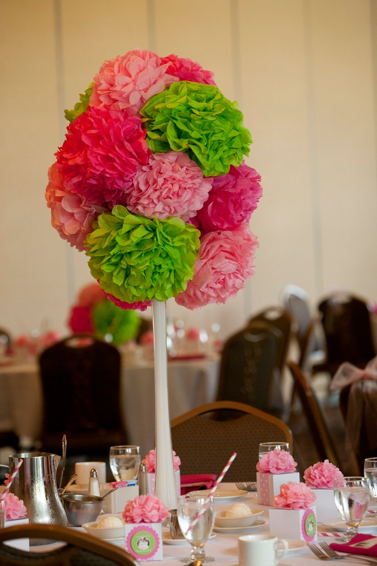 352 best pompoms images on pinterest parties diy and crafts flores de papel crepom four tall and three small wedding birthday or party flower pom centerpieces dhlflorist Image collections