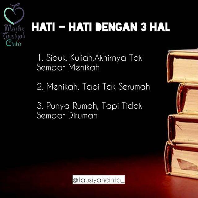 Hati hati dengan 3 Hal! . . Follow @hijrahcinta_ Follow @hijrahcinta_. . . http://ift.tt/2f12zSN