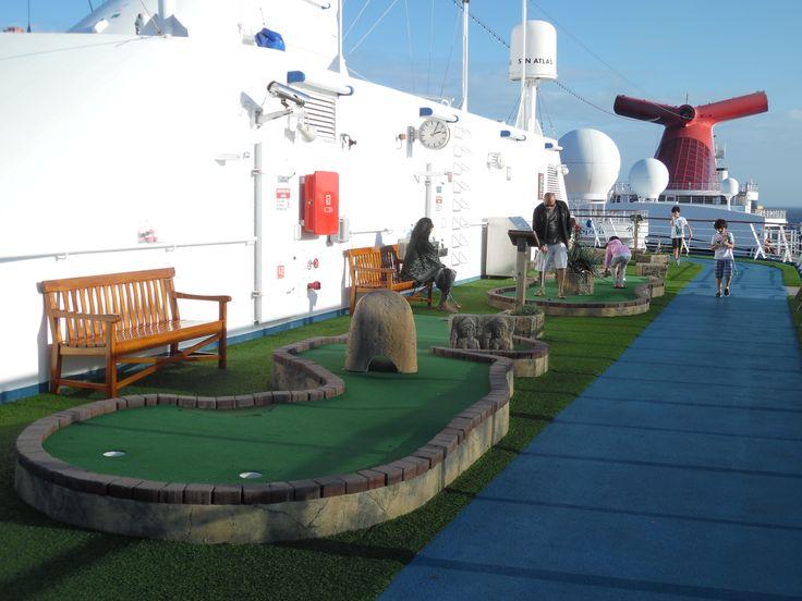 Carnival Spirit cruise ship. Mini Golf