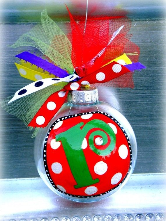 ornaments: Holidays Ornaments, Teacher Gifts, Monograms Ornaments, Gifts Ideas, Diy Gifts, Ornaments Ideas, Personalized Ornaments, Christmas Ornament, Christmas Gifts