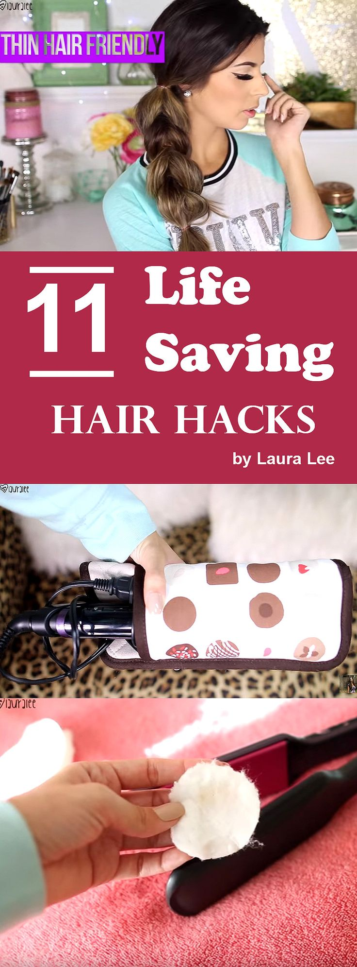 These 11 super easy money saving hair hacks, will surely fix your many hair issues and save your day. That's fine, thank me later. See it here==>  http://gwyl.io/11-life-saving-hair-hacks/