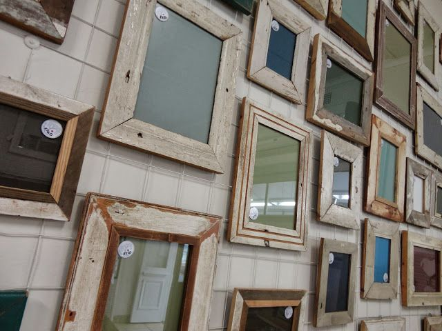 From demolition sites to our walls... Rustic frames, gallery wall