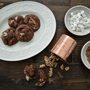 Party In Your Mouth Rocky Road Cookie Recipe - Easy to make! Only a few ingredients, and this super yummy, deliciously chocolaty mouth explosion can be yours.