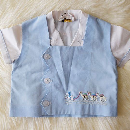 Made By Mee + Co | Collared Button Up Shirt With Vest