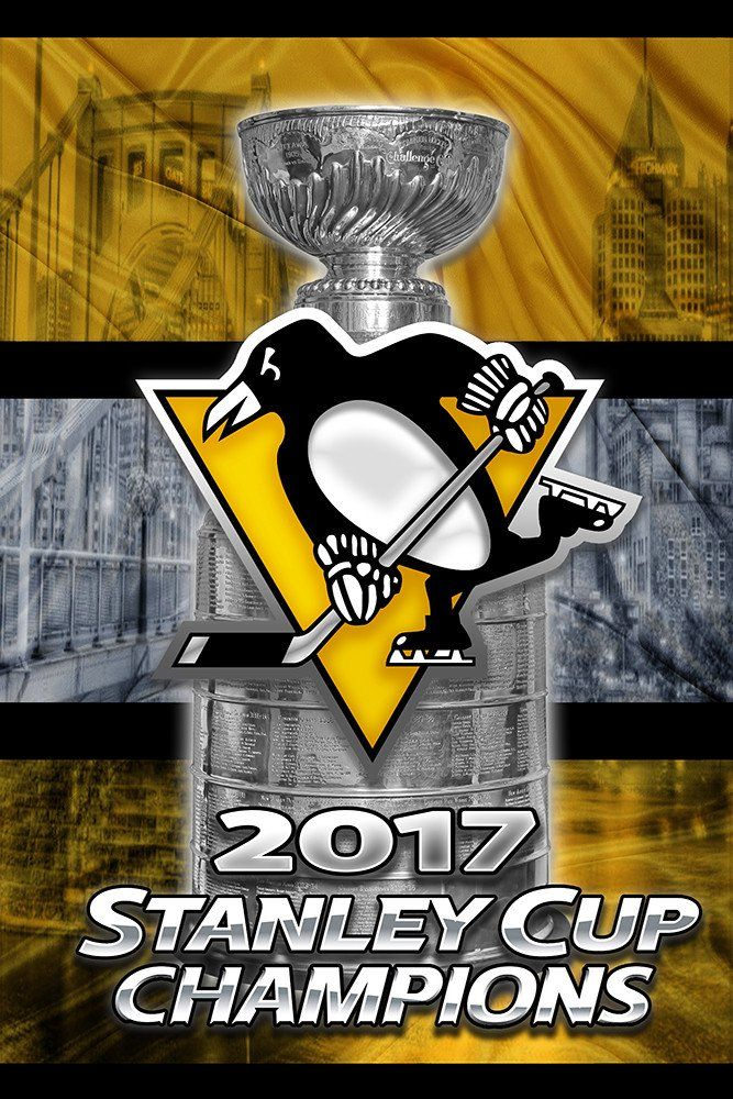 Pittsburgh Penguins 2017 Stanley Cup Championship Poster, Pittsburgh P                      – McQDesign