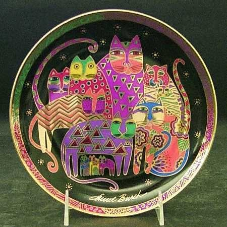 Cat plate - Google Image Result for http://images.replacements.com/images/images5/china/C/franklin_mint_laurel_burch_contemporary_cats_no_box_P0000163436S0001T2.jpg