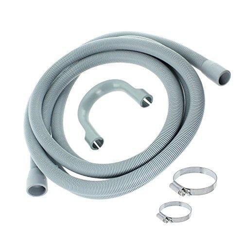 Spares2go  Universal Washing Machine Drain Outlet Hose andamp
