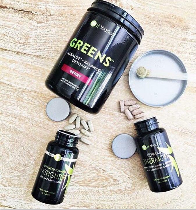 TRIPLE threat! 👊🏻💪🏻🙌🏻 . •Detoxify with our Greens🍃 . •Boost metabolism and curb appetite with ThermoFit💪🏻 . •Absorb 1/3 of the bad fats and carbs from your cheat meals while regulating blood sugar levels with our Fat Fighters👊🏻💥 .