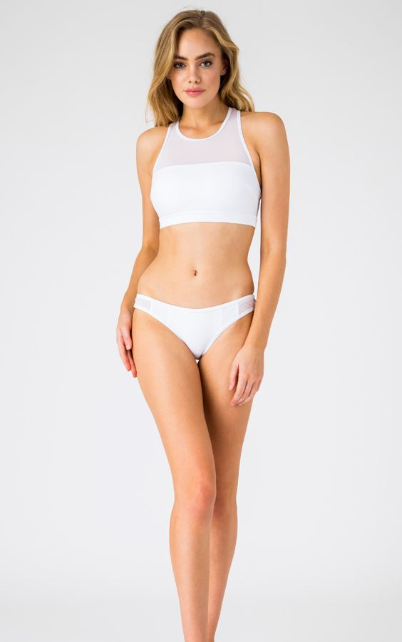 Sporty Mesh Bikini Set in White