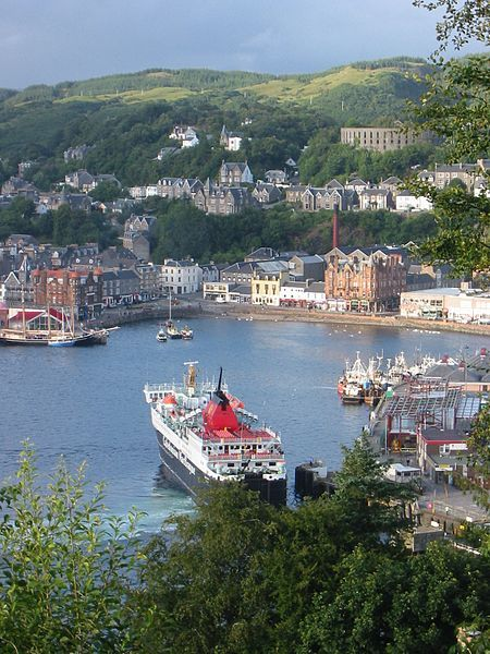 The charming resort town of Oban on the west coast of Scotland. Known as the 'Gateway to the Hebrides'. Hey, that's my hometown!