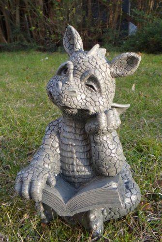 Süsser Gartendrache liest ein Buch Drache Figur Gargoyle Ars-Bavaria http://www.amazon.de/dp/B00BSXN71W/ref=cm_sw_r_pi_dp_FJj6tb1YPR474
