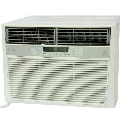 Frigidaire's FRA126CT1 12,000 BTU Compact Window air conditioner with Temperature Remote, is perfect for medium to large size rooms up to 640 square feet. It also has electronic controls with a temperature sensing remote giving you the choice of controlling the temperature with the remote or at the unit. The clean air ionizer and antimicrobial filter reduces bacteria, room odors, and other airborne particles for a comfortable environment. With Energy Star efficiency, this unit provides savings a: Btu Window Mounted, Frigidaire Fra226St2, 22 000 Btu, 115 Volt Window Mounted, 22 000 21 600 Window Mounted, Window Air Conditioner, 640 Square, Window Mounted Heavy