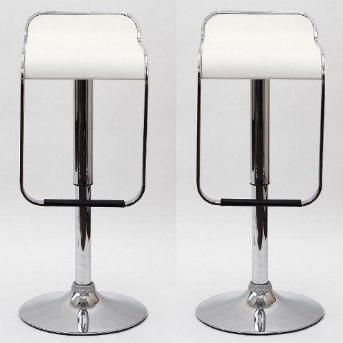 gamma modern adjustable bar stools white set of 2 modern bar stoolshttp - Amazon Bar Stools