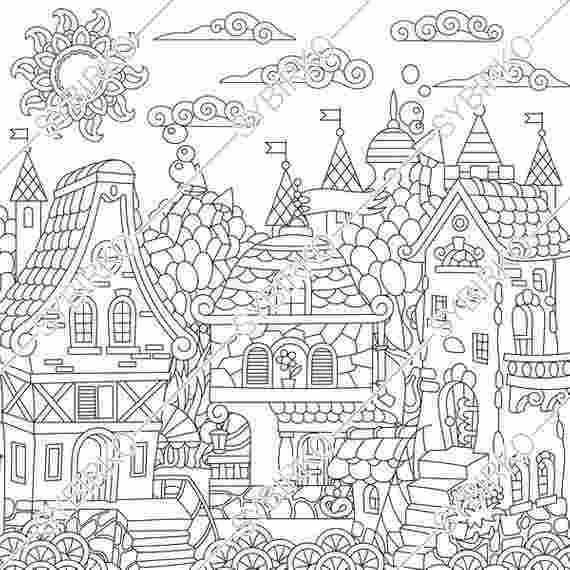 Castle Coloring Pages Pdf Coloring Pages For Adults Fantasy