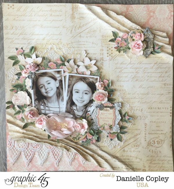 Gilded Lily Double Photo Layout, Gilded Lily, by Danielle Copley, Product by Graphic 45