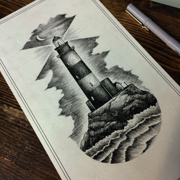 Lighthouse  www.matkaptattoo.com