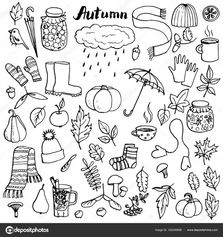 Herunterladen – Herbstliches Doodle set — Stocki…